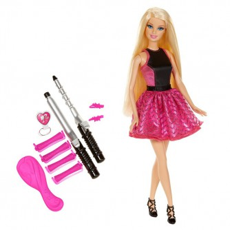 Кукла Barbie и набор для создания модных причесок
