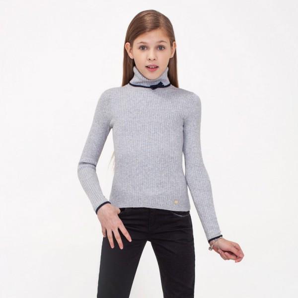 Школьная одежда для девочек Карамелли. Свитер Acoola Glen ind серый