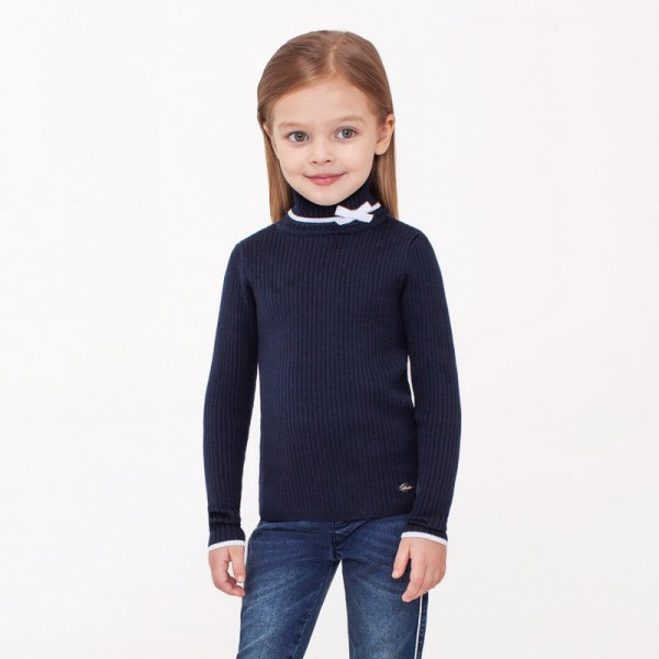21204950@Свитер детский для девочек Glen_ind темно-синий всего за 495 руб