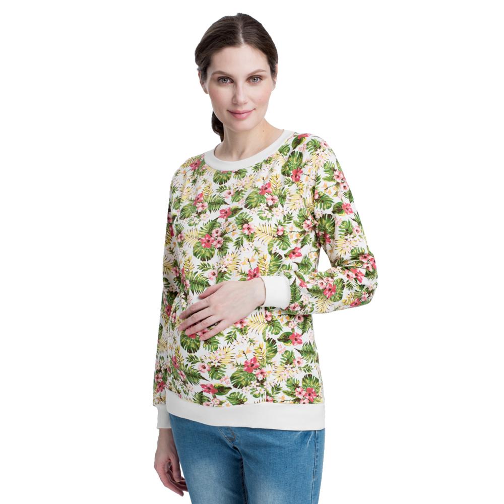 Свитшот для беременных бежевый со скидкой
