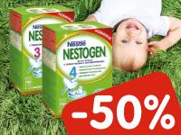 При покупке 2 упаковок молочка Nestogen — скидка 50% на вторую