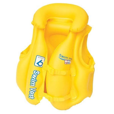 Жилет для плавания желтый 3-6 лет