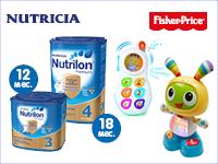 Купите смеси Нутрилон и получите скидку на игрушки Fisher-Price