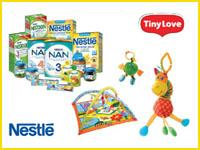 Совместная акция любимых брендов Nestle и Tiny Love!