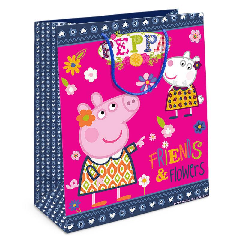 Пакет подарочный Пеппа и Зои 230*180 со скидкой